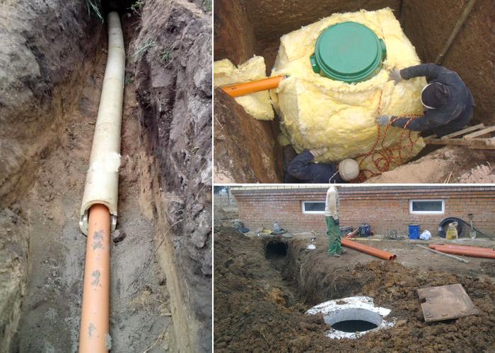 Прокладка водопровода в земле в частном доме