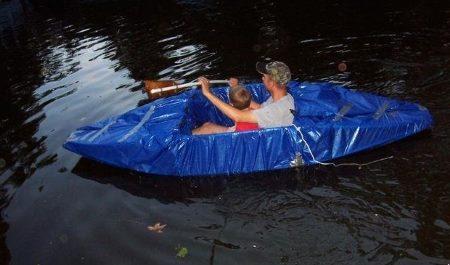 Лодка из труб