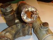 стальные трубы после нескольких лет работы