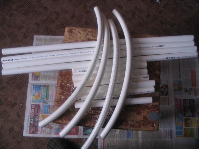 Пластиковые трубы для изготовления саней