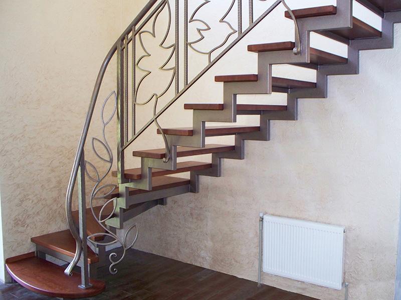 лестница из профильной трубы чертежи