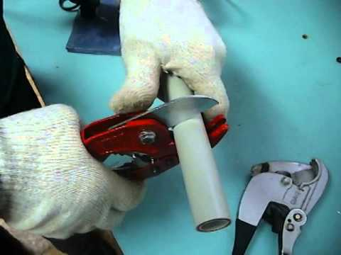Разрезание труб из полипропилена
