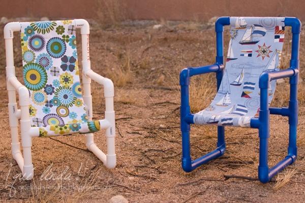 Хотите такой стул для малышей из труб ПВХ? Это вполне в наших силах!