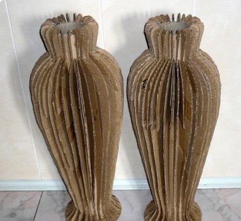как сделать вазу из трубы сантехнической