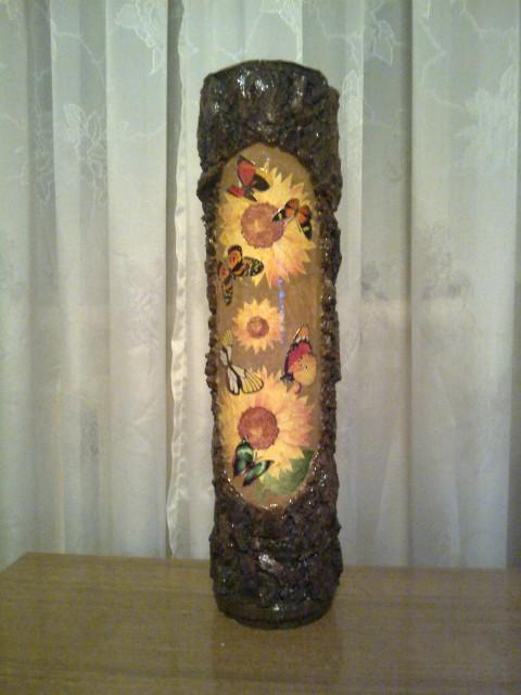 напольная ваза своими руками из трубы