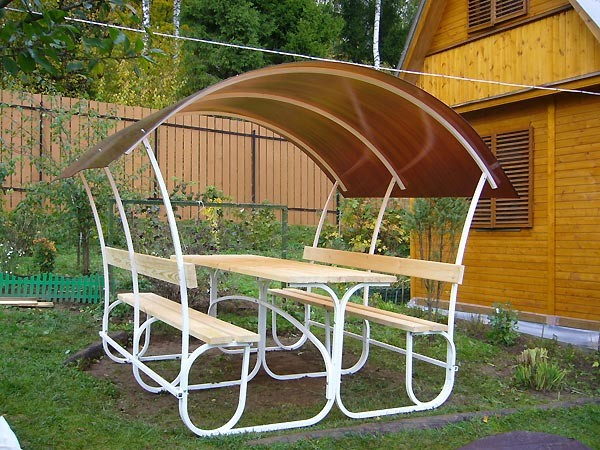 Садовая мебель из полипропиленовых труб своими руками