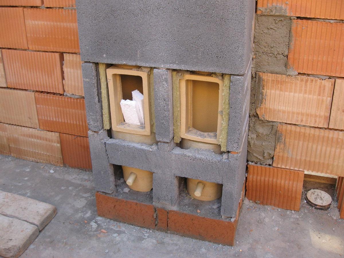 Блок для дымохода