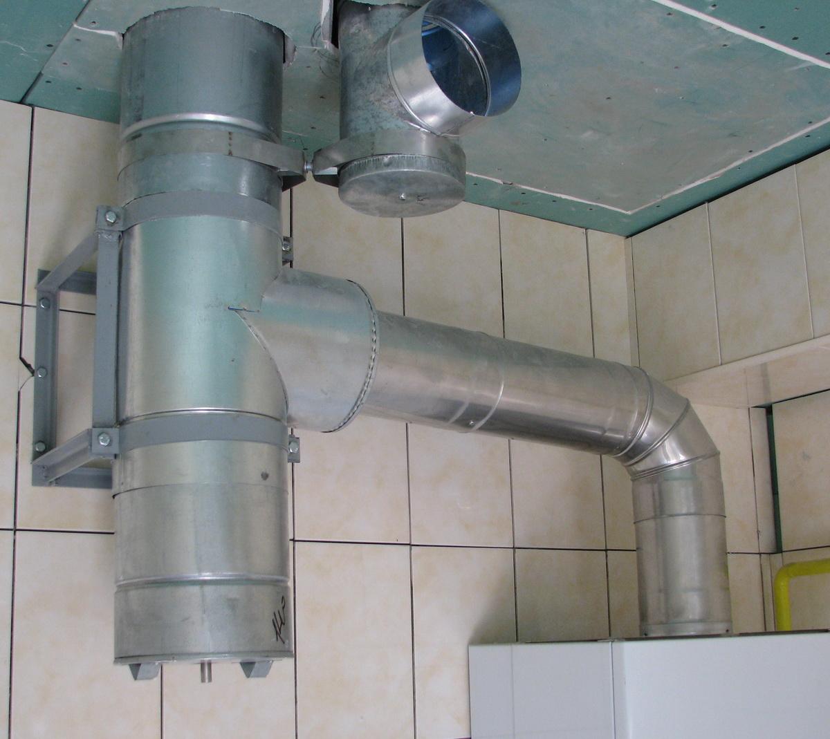 дымоход и вентиляция пристроенные к дому