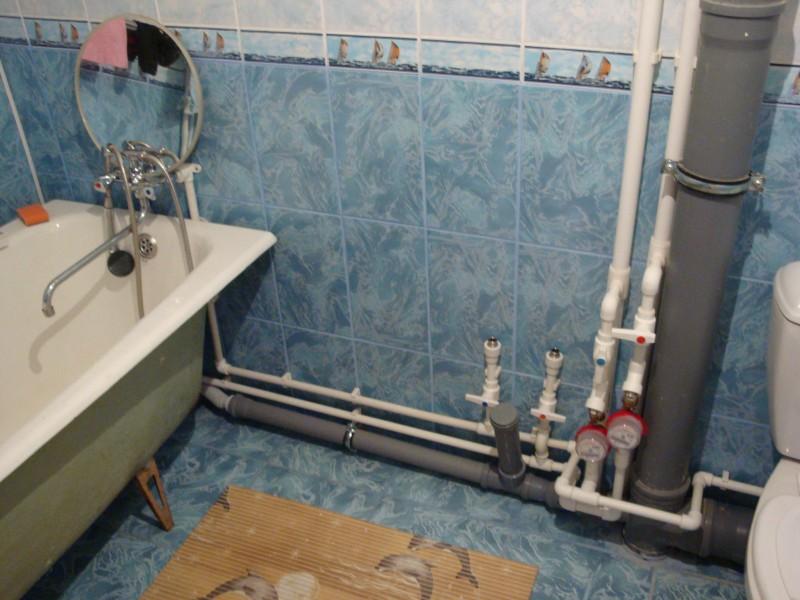 Установка пластиковых труб своими руками в ванной